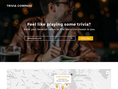 Trivia Compass Website bar map compass trivia web
