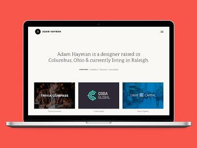 New Personal Site semplice portfolio design web