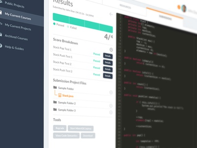 UI Experiment #1 code score submission web app user interface ui
