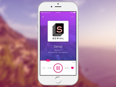 UI Experiment #2 mobile serial audio player user interface ui podcast