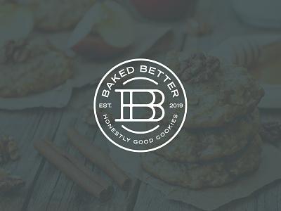 Baked Better - Secondary Mark ohio columbus branding logo bakery badge cookies better baked