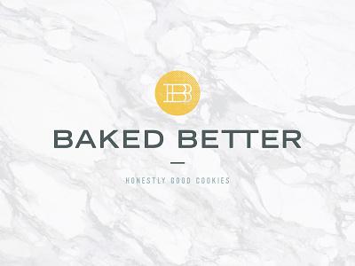 Baked Better Logo bakery logo branding ohio columbus cookies better baked