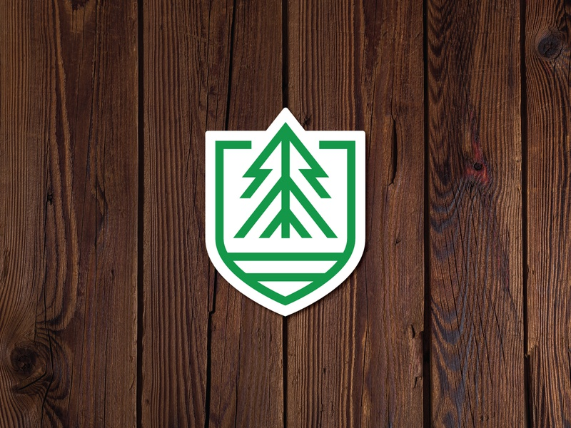 EverWynter Sticker logo branding vacation rental airbnb cabin rental badge tree sticker colorado
