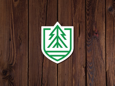 EverWynter Sticker logo branding vacation rental airbnb cabin rental badge tree sticker colorado