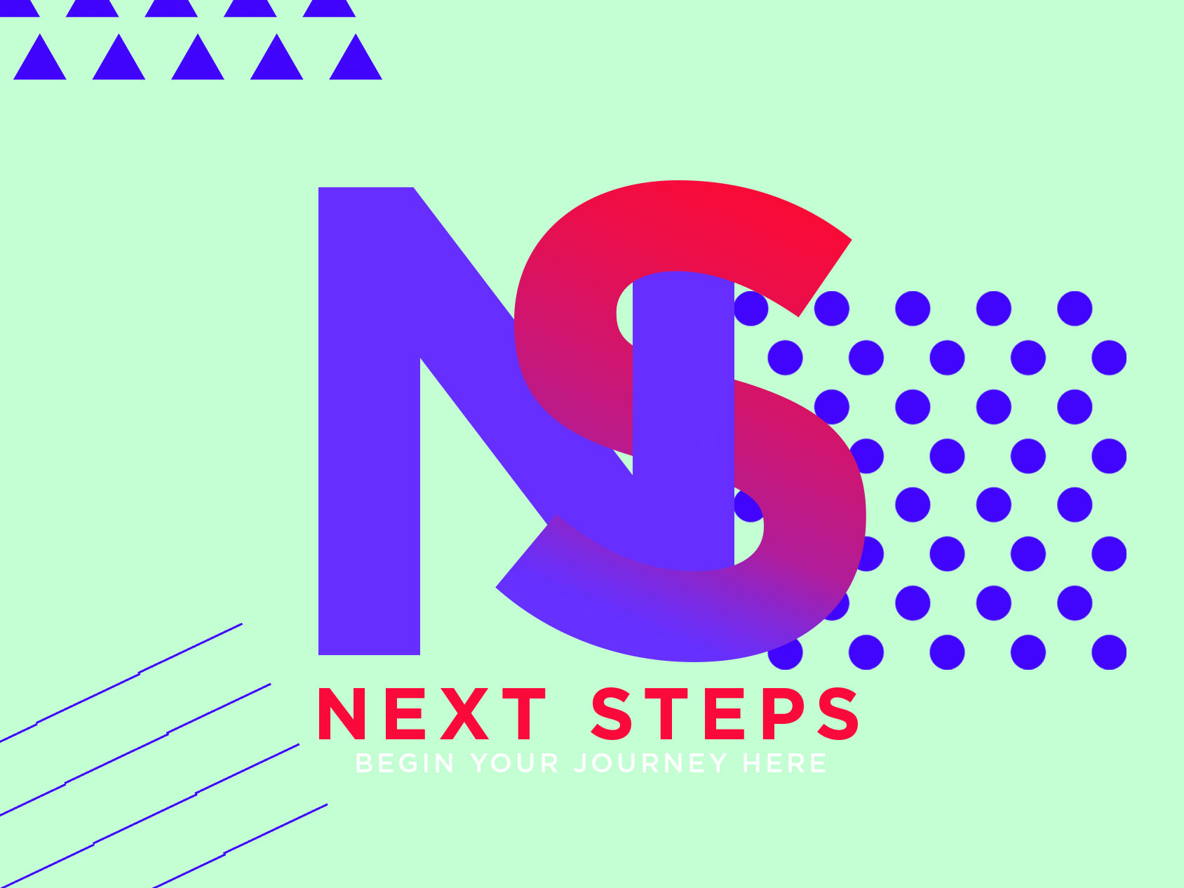 Next steps flyer front