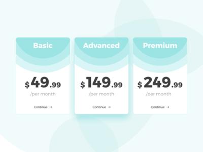 Pricing plan concept