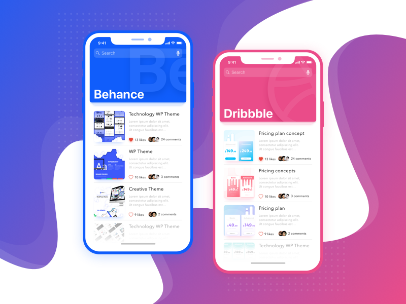 The next one ui sketch shot mobile iphone x illustration concept