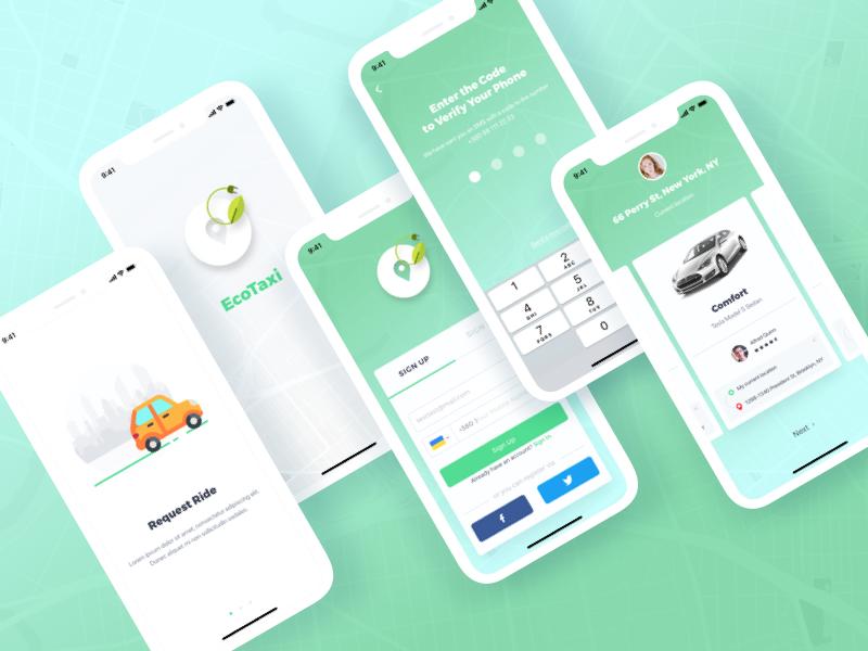 Taxi App ux x iphone vector iphone x design mobile web illustration shot concept ui sketch