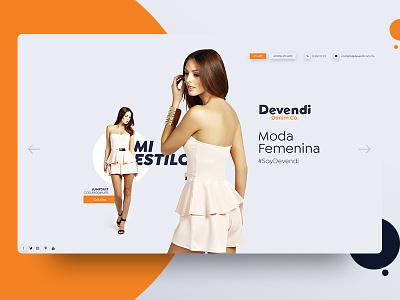 Devendi sitio web woman ropa tienda drees store web sitio identity branding moda