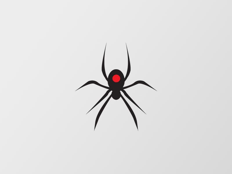 Black Widow Logomark logomark black widow