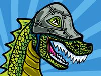 Dino Wearing Helmet