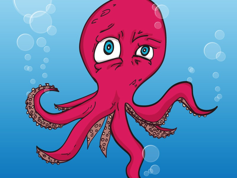 Confused Octopus illustration octopus confused