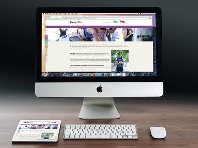 Article Page Design web design design article page