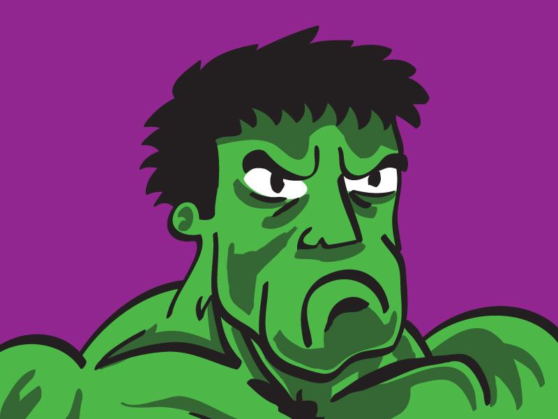 Angry Hulk doodle illustrator illustration drawing hulk