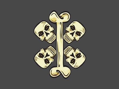 Bone & Cross Skulls crossbones symbol flag pirate skulls cross bones