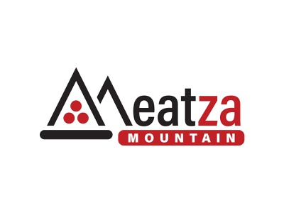 Meatza Mountain Logo 2019 restaurant graphic design design branding logo pizza