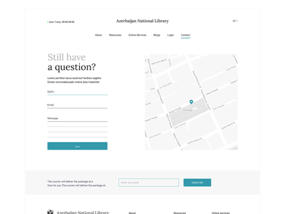 Contact Page map page contact web library websitedesign design ux ui