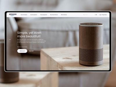 Amazon Smart Devices Standalone Website & Header Page clean webshop design simple minimal nice product amazon