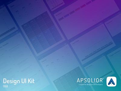 Apsolior Simple & Minimal Design UI Kit design system free design kit free template template ui kit design design kit