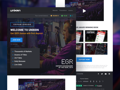 HTML Newsletter Template For Esports Betting Unikrn creative simple ui generic abstract template mail newsletter html marketing