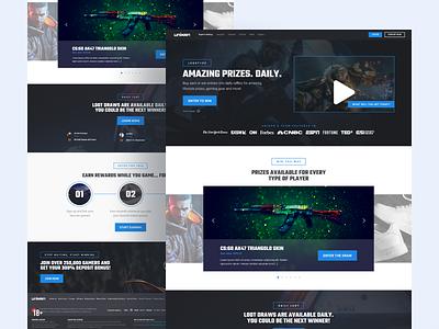 Promotional Landing Page For Unikrn creative simple promotional design ux ui page landing minimal clean