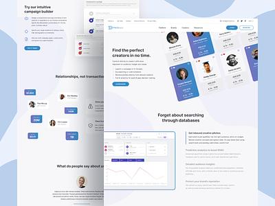Pitchboard Website Complete Redesign management platform design influencing marketing creative light simple minimal clean ux ui redesign website