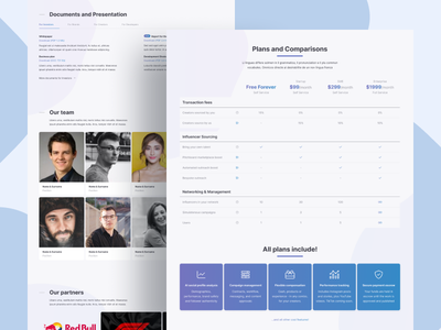 Pitchboard Website Complete Redesign influencers management marketing ux ui design abstract creative simple clean minimal