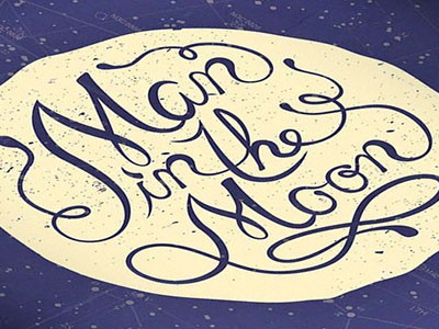 Man in the Moon Book Cover book cover print hand lettering