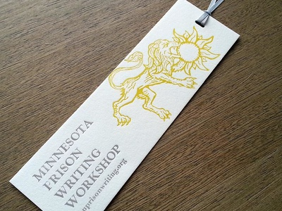 Writing Workshop Bookmark print bookmark letterpress