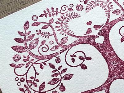 Valentine's Day Print letterpress print card