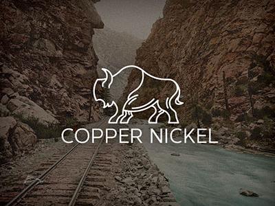 Copper Nickel identity animal monoline logo