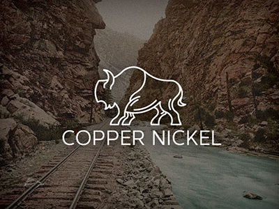 Copper Nickel identity animal monoline logo