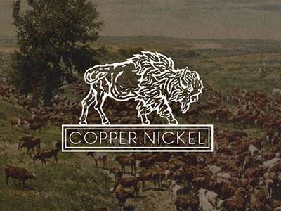 Copper Nickel V3 identity animal woodcut logo