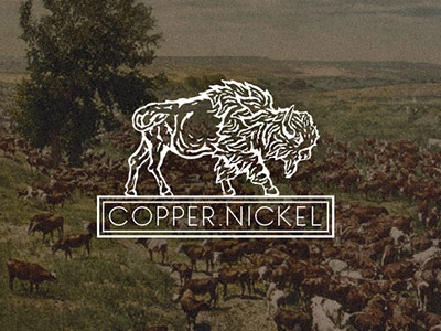 Copper Nickel V3 identity animal woodcut logo