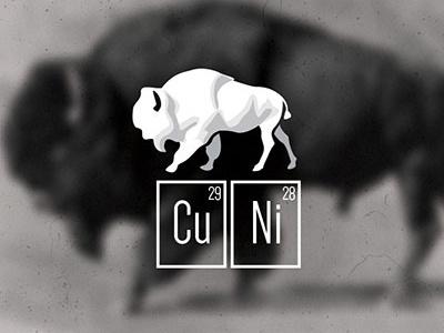 Copper Nickel Breaking identity animal logo
