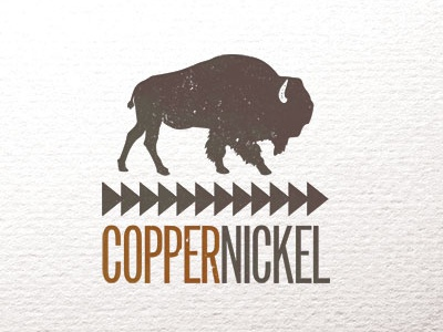Copper Nickel Final buffalo identity animal logo