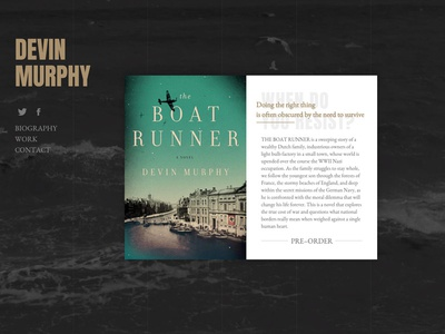 Boat Runner single page book author web website