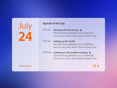 Calendar Widget Revisited calendar widget