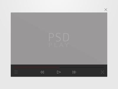 Flat Video Player flat video player ui