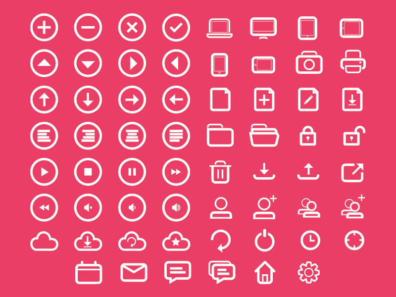 Rounded Icon Set iconset icons psd svg eps vector rounded bubbly free download