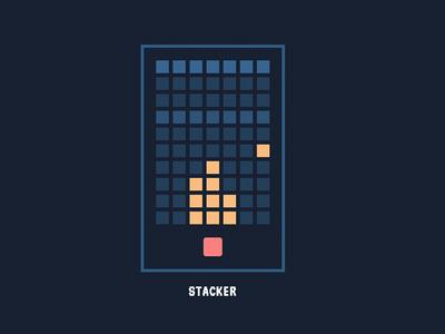 Retro Game Design: Pure CSS Stacker simple flat retro game css