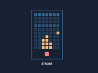 Retro Game Design: Pure CSS Stacker simple flat retro game css