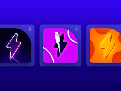 Charging Play Animation App | App Store Icons apple icons icon charging animation graphic design ui logo illustration design branding battery appstore apps applace app 3d