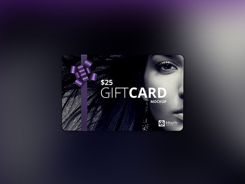 gift card mockup by intaglio graphics multimedia dribbble