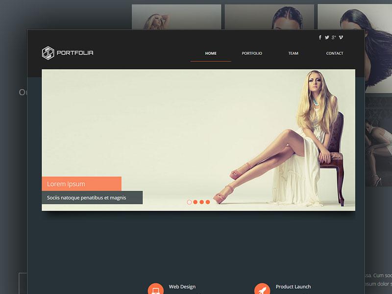 Portfolia Adobe Muse Theme For Creatives by Intaglio
