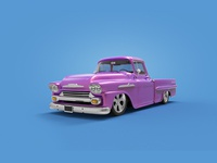 Ford Chevy Apache 3D render
