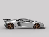 Lamborghini Aventador 3D Render