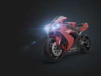 Yamaha YZF R1 3D render