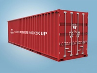 Shipping Container Mockup