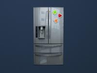 Free Refrigerator Mockup Psd